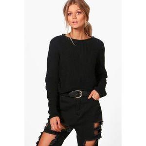 BooHoo Roll Hem Petite Sweater